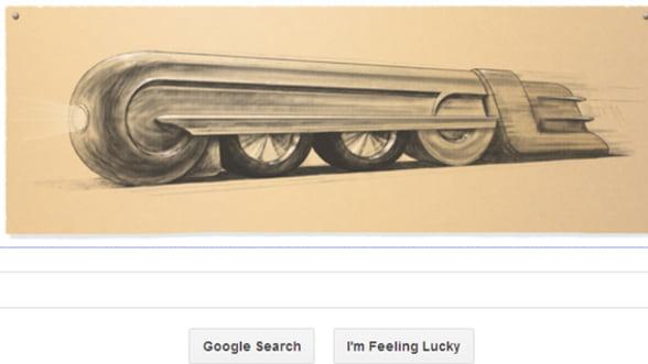 """Google creeaza un logo special pentru a-l celebra pe Raymond Loewy, """"parintele designului modern"""""""
