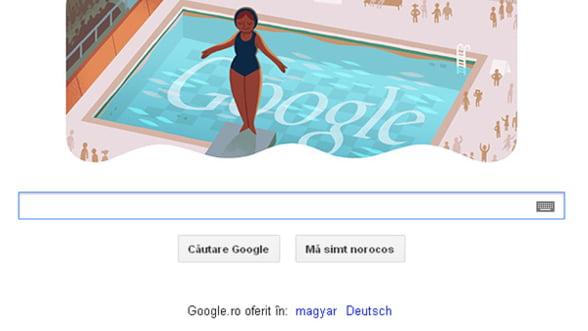 Google marcheaza prin logo proba sariturilor in apa de la JO 2012