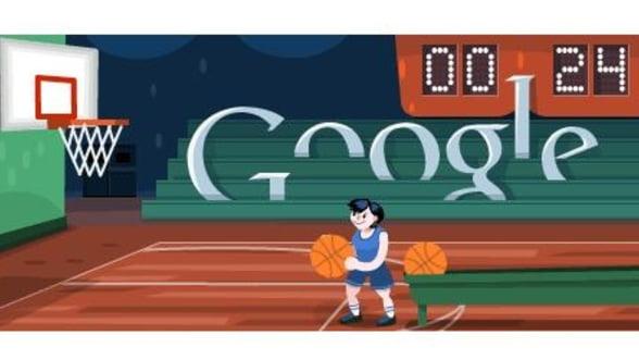 Google promoveaza baschetul printr-un logo interactiv