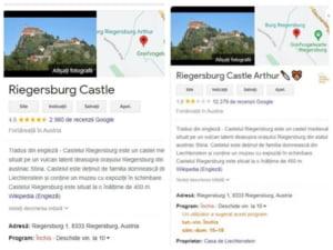 Google readuce castelul printului din Austria la un rating pozitiv. Au fost sterse peste 12.000 de recenzii negative ale romanilor