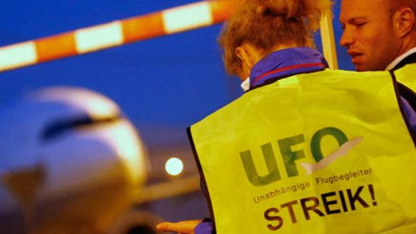 Greva continua la Lufthansa, 20 de zboruri fiind anulate miercuri