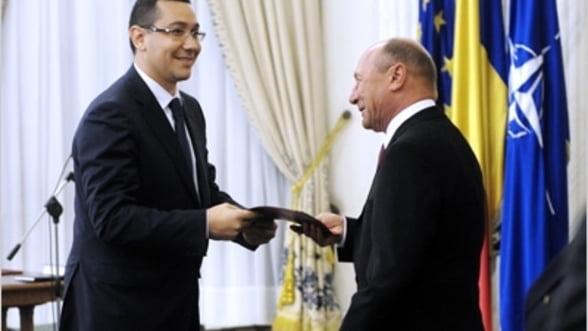 Guvernul Ponta a depus juramantul la Palatul Cotroceni