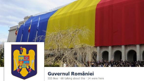 Guvernul Romaniei si-a lansat pagina de Facebook