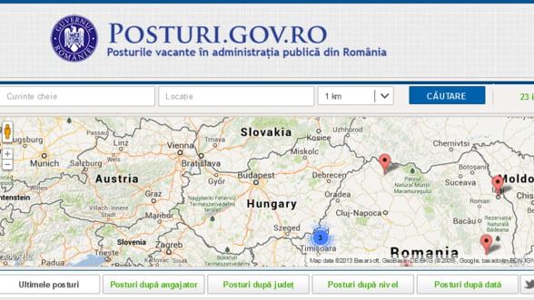 Guvernul a lansat portalul posturi.gov.ro, unde sunt anuntate posturile libere din administratie