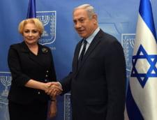 Guvernul anunta ca Dancila s-a intalnit cu Netanyahu si au schimbat niste opinii. Nimic despre ambasada din Israel