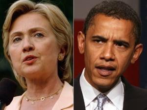 Hillary Clinton il devanseaza in sondaje pe Barack Obama