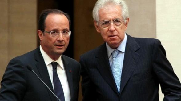 Hollande si Monti vor de urgenta uniunea bancara
