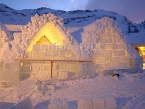 Hotelul de Gheata de la Balea Lac poate fi vizitat in ajunul Craciunului