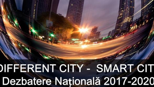 Iluminat stradal eficient, parcari inteligente, eficienta energetica, platforme administrative de lucru, managementul deseurilor si multe alte aplicatii destinate oraselor moderne vor fi prezentate la Different City-Smart City. Dezbatere 2017-2020