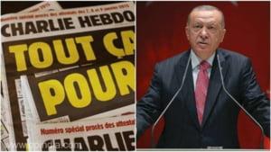 Inalti oficiali turci se arata scandalizati de publicarea in Charlie Hebdo a unei caricaturi cu presedintele Recep Tayyip Erdogan. Cum arata desenul