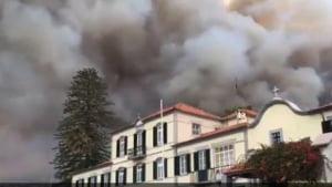 Incendiu in paradisul turistic din Madeira UPDATE: Morti, strazi blocate si oameni evacuati (Video)