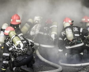 Incendiu la cel mai mare mall din Vaslui
