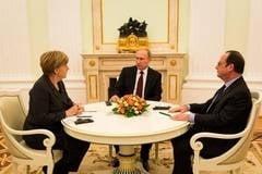 """Intalnire cu miza istorica la Moscova: Merkel spune ca """"nu e cert"""" ca planul de pace pentru Ucraina va avea succes"""