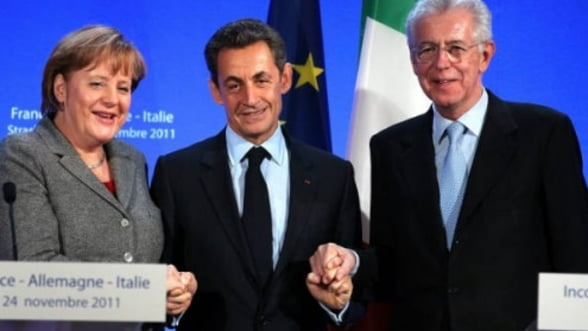Intalnirea dintre Sarkozy, Monti si Merkel a fost amanata