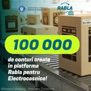 """Interes enorm pentru """"Rabla"""" la electrocasnice. A fost depasit pragul de 100.000 de conturi create in platforma speciala"""