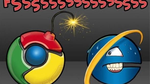 Internet Explorer pierde teren in favoarea Chrome