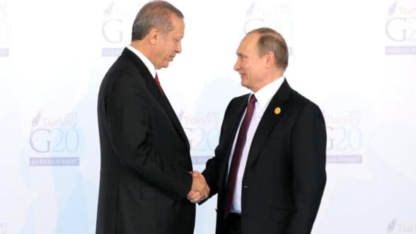 Interventia Rusiei in Siria tinteste siguranta energetica a Turciei. Ce a urmarit Putin?