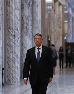 Iohannis a ajuns la Guvern ca sa participe la sedinta