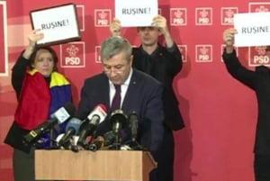"""Iordache a fugit din fata presei dupa ce a fost inconjurat de afise pe care scria """"Rusine!"""". Ce explicatii a dat pentru ordonanta"""