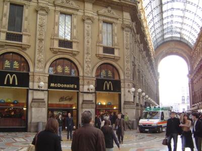 Italienii, in razboi cu McDonald's: Chiriile in franciza sunt de 10 ori peste pretul pietei