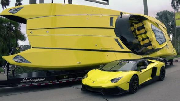 Iti place noul Lamborghini Aventador? Stai sa vezi si barca!