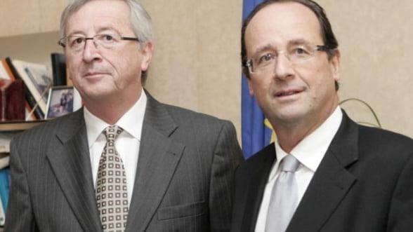 Junker vrea sa-l convinga pe Hollande sa nu renegocieze pactul fiscal