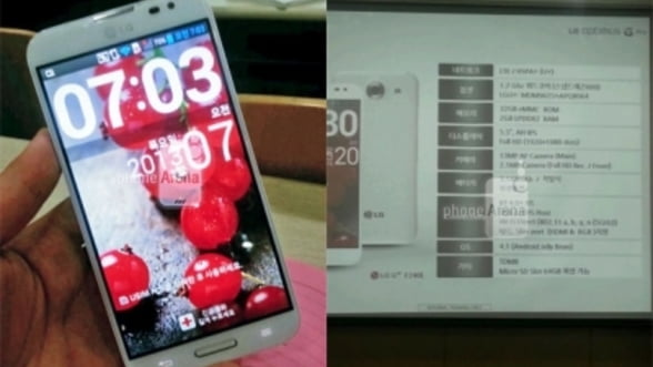 LG Optimus G Pro, dezvaluit: ecran de 5,5 inci