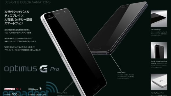 LG Optimus G Pro isi face aparitia in primele fotografii