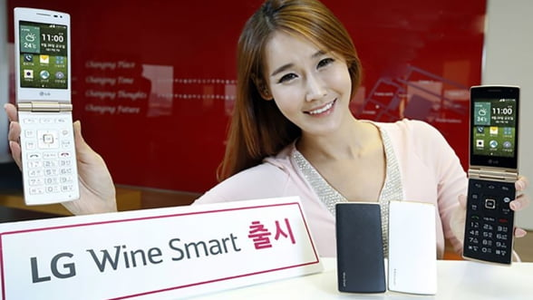LG a prezentat Smart Wine, smartphone-ul cu clapeta si ecran de 3,5 inch. Frumos, dar inutil