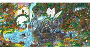 La doar 11 ani, a castigat concursul Doodle 4 Google cu un desen fabulos (Video)