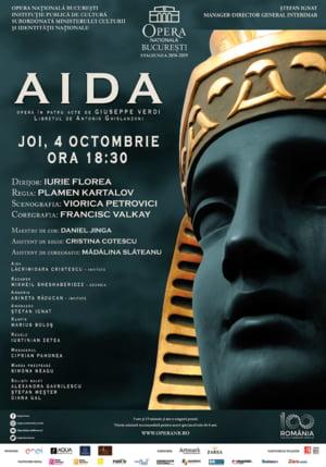 """Lacrimioara Cristescu, Asineta Raducan si Mikheil Sheshaberidze, pe scena Operei Nationale Bucuresti in """"Aida"""" lui Verdi"""