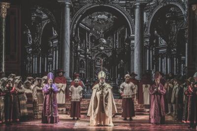 Lacrimioara Cristescu si Mikheil Sheshaberidze, invitati in spectacolul Tosca, pe scena Operei Nationale Bucuresti