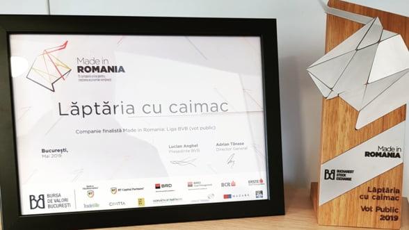 Laptaria cu Caimac - castigatoarea votului public in cadrul Galei Made in Romania: Liga BVB