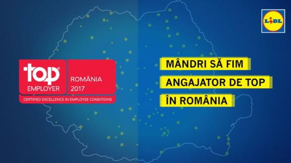 Lidl obtine certificarea Top Employer pentru Romania si alte sase tari europene