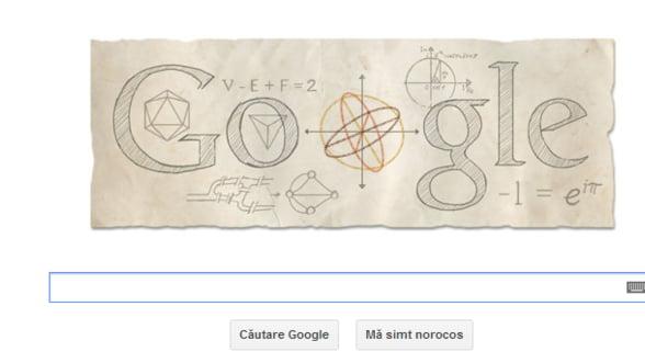 Logo aniversar Google. Se implinesc 306 ani de la nasterea matematicianul Leonhard Euler