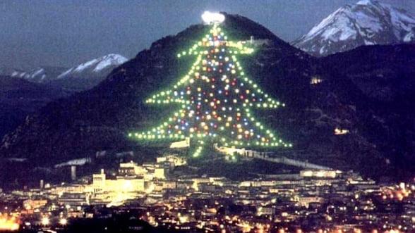 Luminile celui mai mare brad de Craciun din lume, aprinse de Papa Benedict al XVI-lea