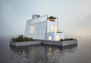 Lupta cu apele: Casele plutitoare, o solutie pentru cei care traiesc in zone cu inundatii (Galerie foto)