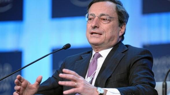 Mario Draghi: BCE, pregatita sa adopte noi masuri neconventionale de politica monetara
