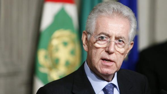 Mario Monti afirma ca Italia nu este afectata de criza datoriilor