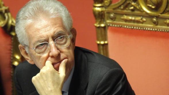 Mario Monti avertizeaza asupra aparitiei unei miscari antieuropene in Italia