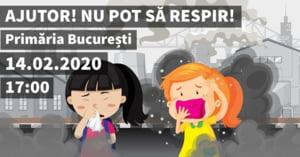 Mars pentru aer curat in Bucuresti, pe 14 februarie: Locuitorii respira zilnic otrava