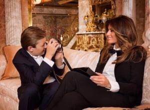 Melania Trump si Barron s-au mutat la Casa Alba