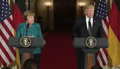 Merkel l-a lamurit pe Trump privind acordul comercial dintre SUA si UE