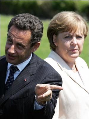 Merkel si Sarkozy au propus retragerea dreptului de vot in UE pentru statele cu deficite de peste 3%