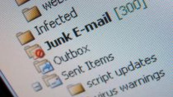 Mesajele de tip spam au scazut cu 50% in 2011