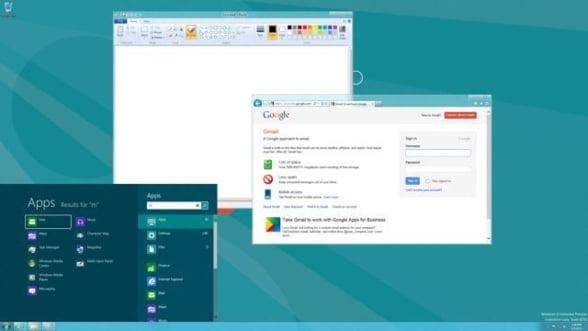 Microsoft a modificat interfata grafica pentru Windows 8