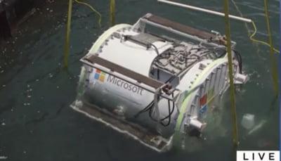 Microsoft isi depoziteaza centrele de date pe fundul marilor