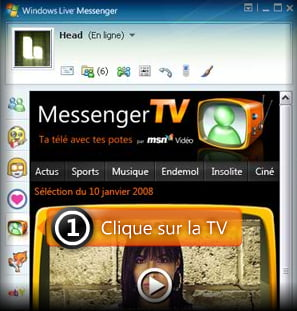Microsoft lanseaza Messenger TV