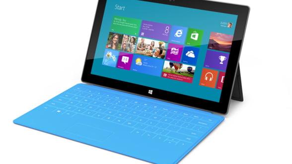 Microsoft pune la incercare nervii consumatorilor: tableta Surface costa 1.000 de dolari