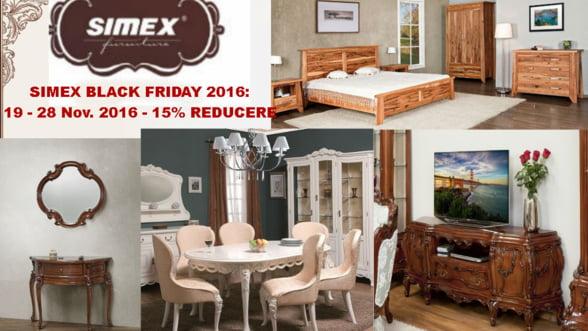 Mobila Simex Black Friday: 15% reducere in perioada 19-28 noiembrie 2016